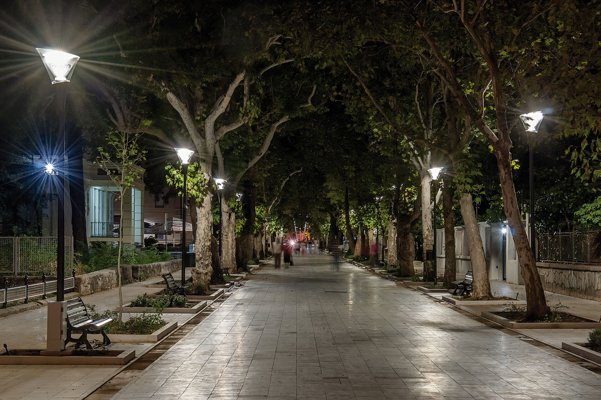 Calla LED creates an inviting nocturnal outdoor space for residents in Mostar while cutting energy consumption