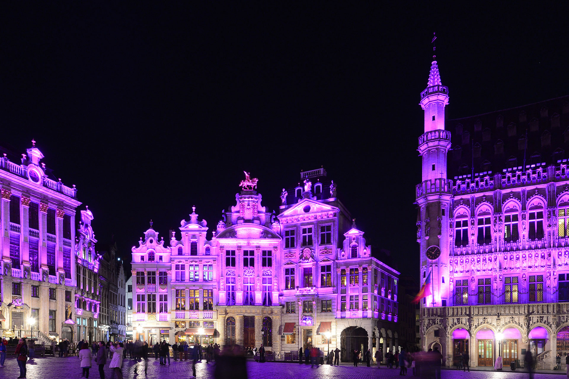 The LED lighting on Grand Place in Brussels uses the same energy consumption to light 27 buildings as what was previously used to illuminate 2