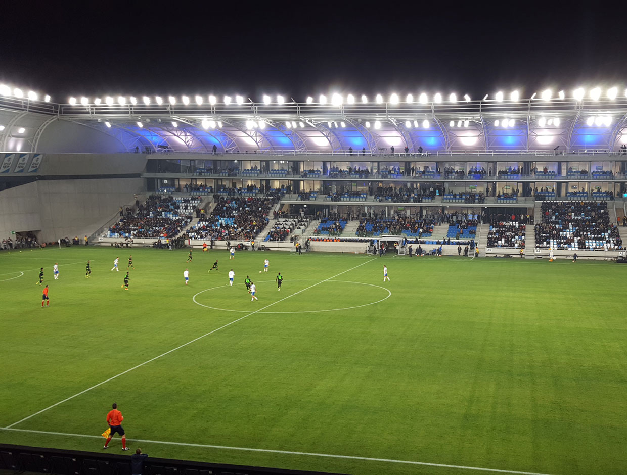 Schréder delivered the first all LED lighting solution for a football stadium in Eastern Europe