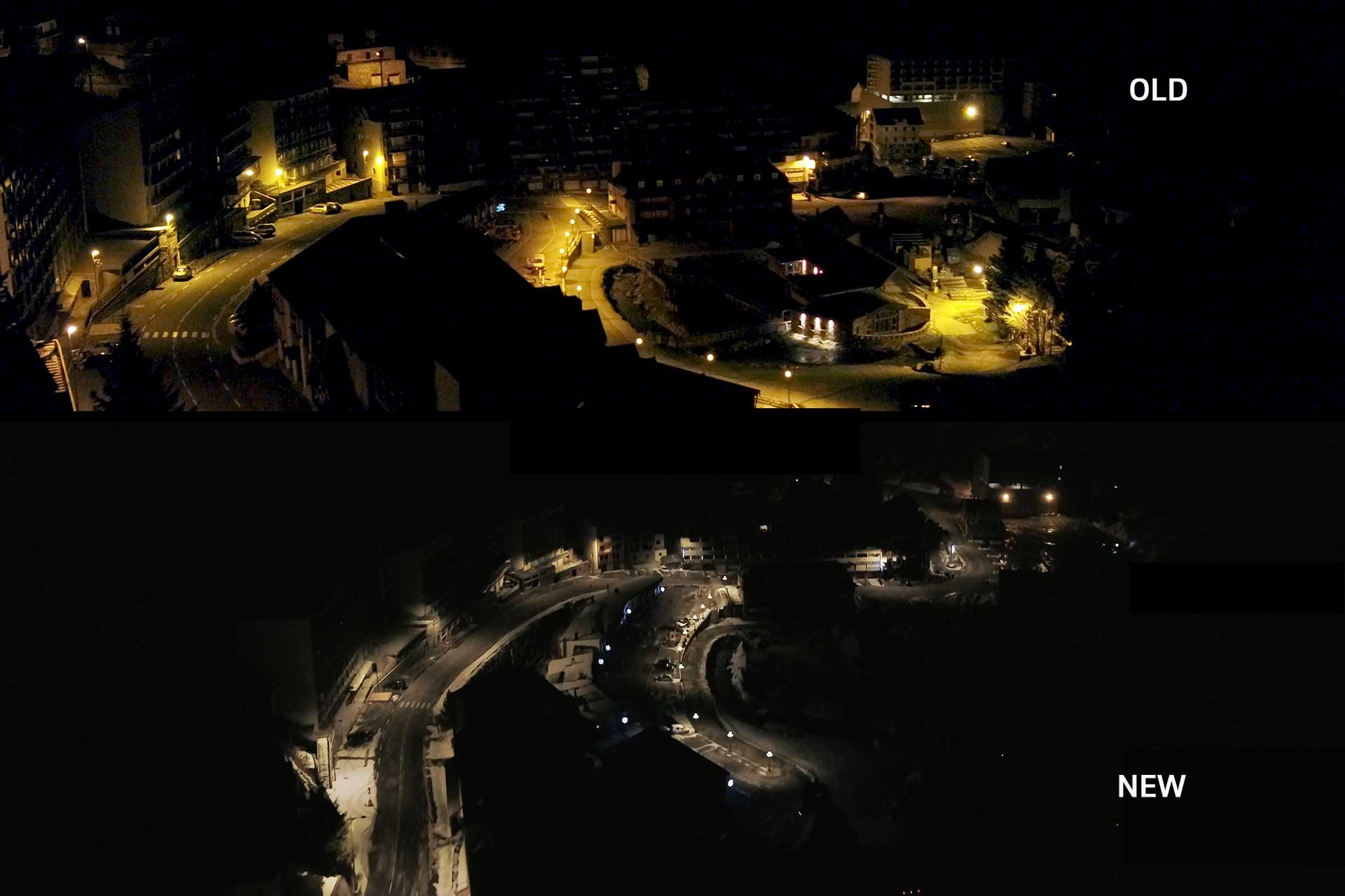Smart lighting from Schréder has not only reduced the light pollution for La Mongie but also improved the quality in the streets