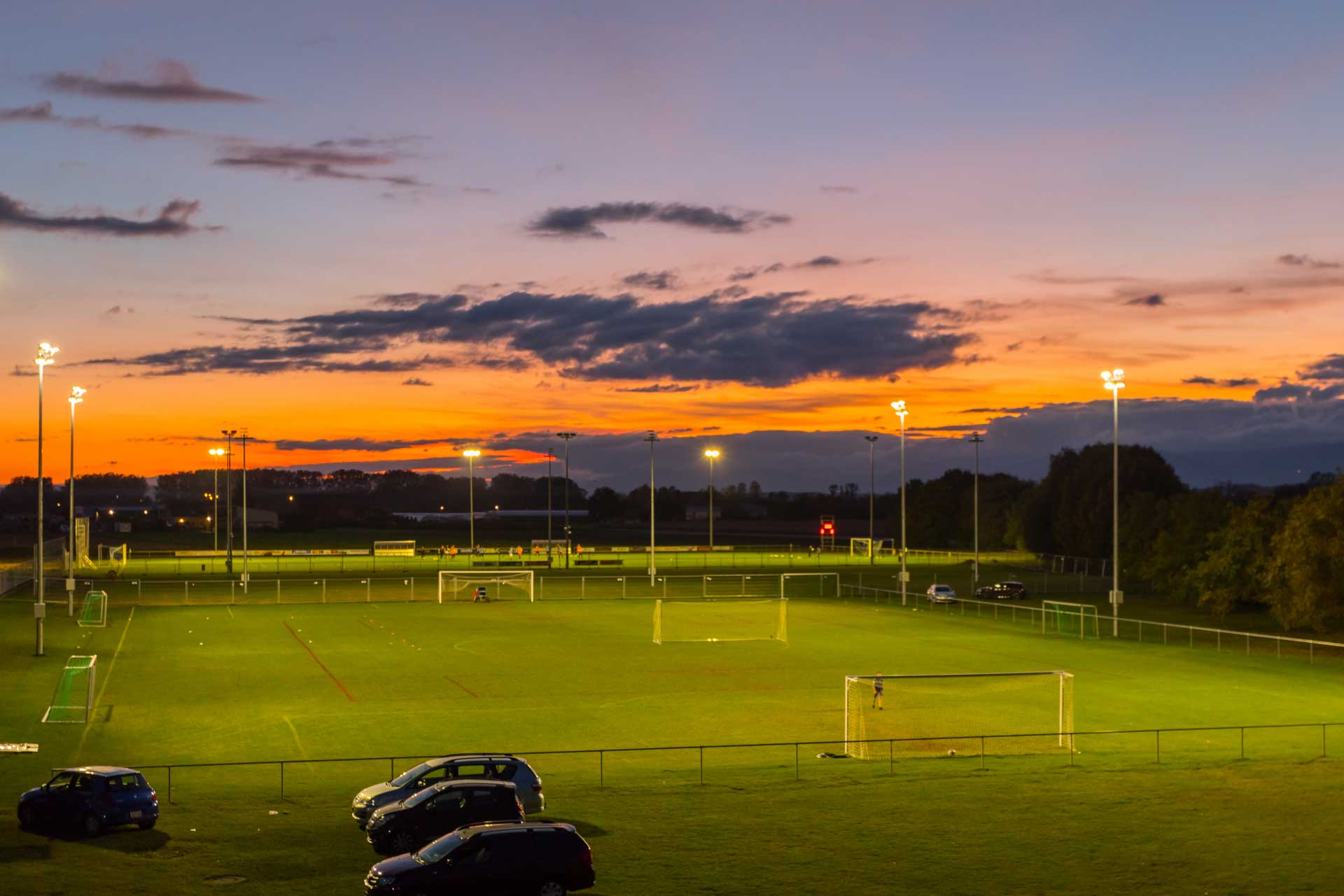 Schréder OMNistar floodlights deliver the necessary lighting levels for FC Avenches football matches while eliminating light pollution