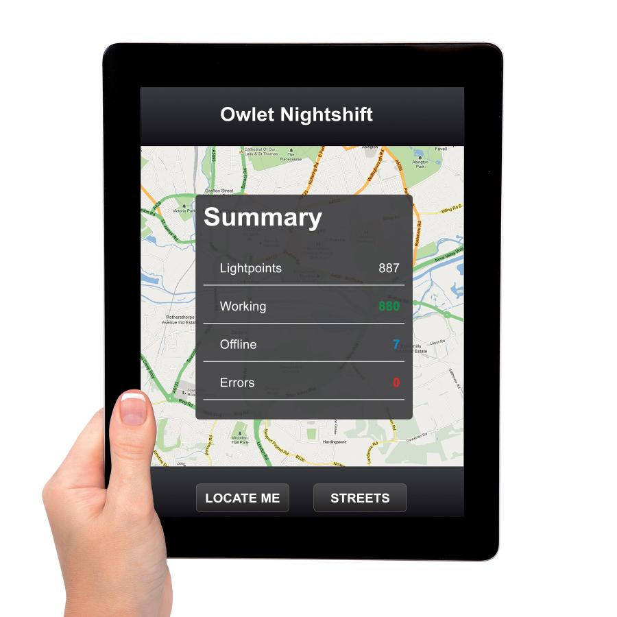 Owlet Nightshift is a luminaire control system to operate a lighting installation remotely